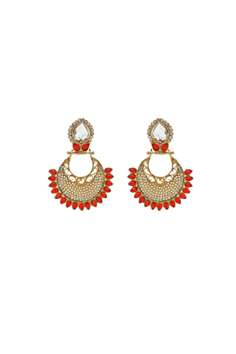 Red Brass Material Function Wear Earrings