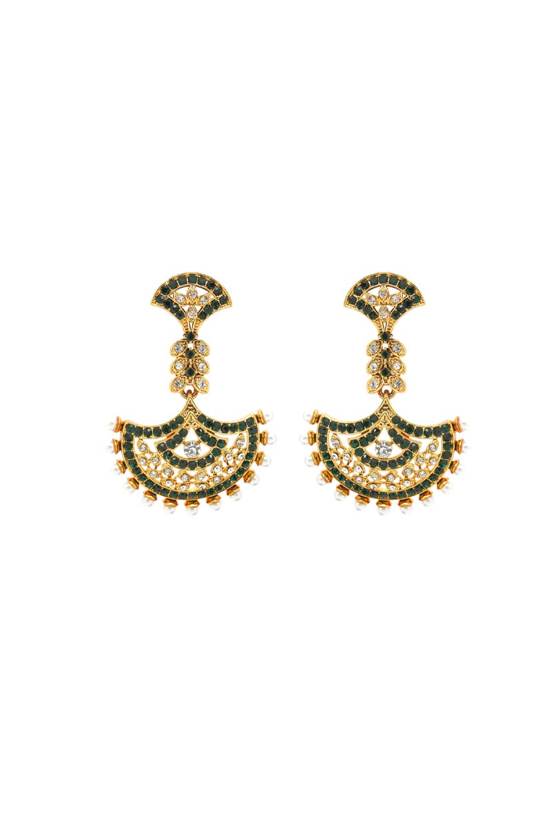 Brass Material Golden Earrings