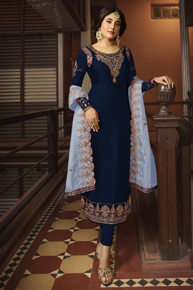 Kritika Kamra Satin Georgette Fabric Function Wear Salwar Suit