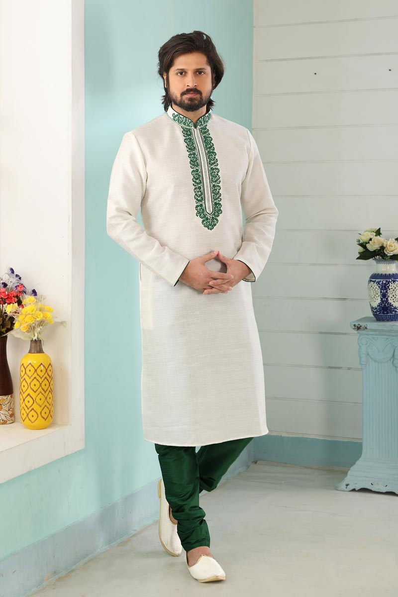 Art Silk Fabric Function Wear Fancy Kurta Pyjama For Men