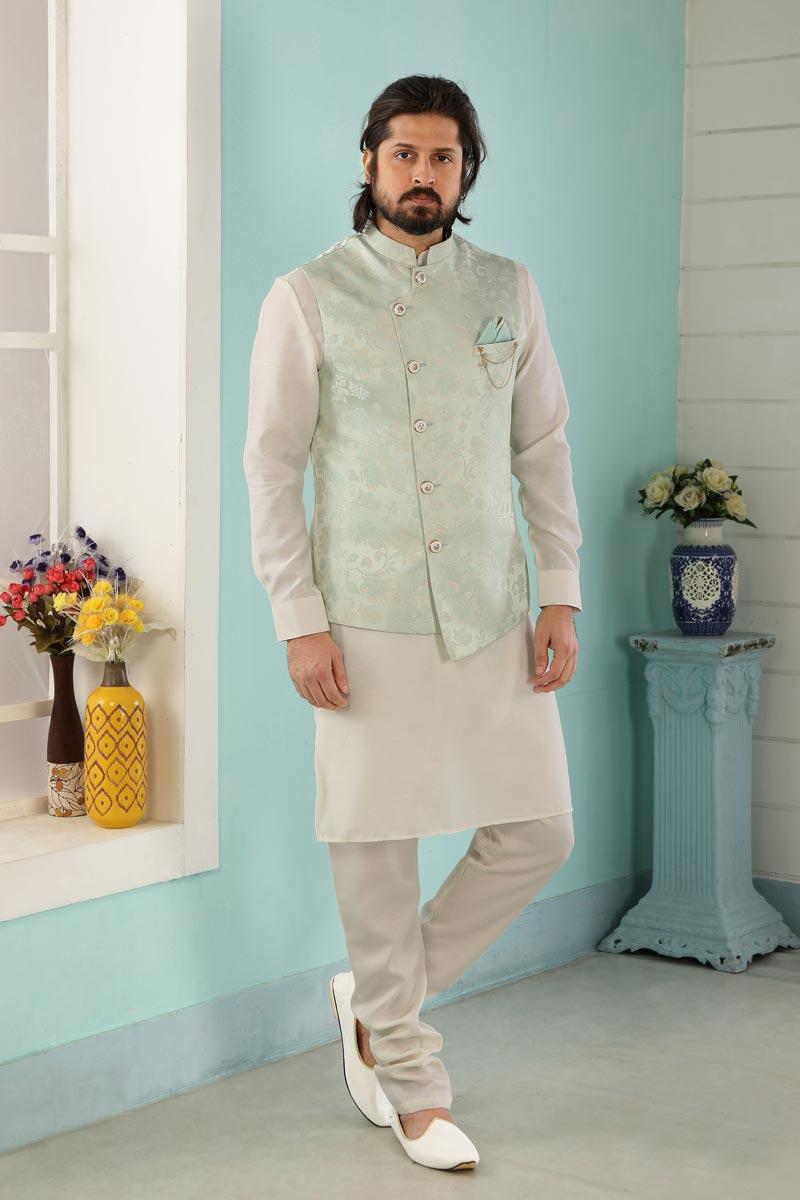 Festive Wear Trendy Kurta Pyjama For Men
