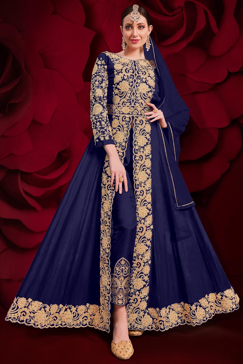 Georgette Fabric Party Wear Designer Anarkali Suit