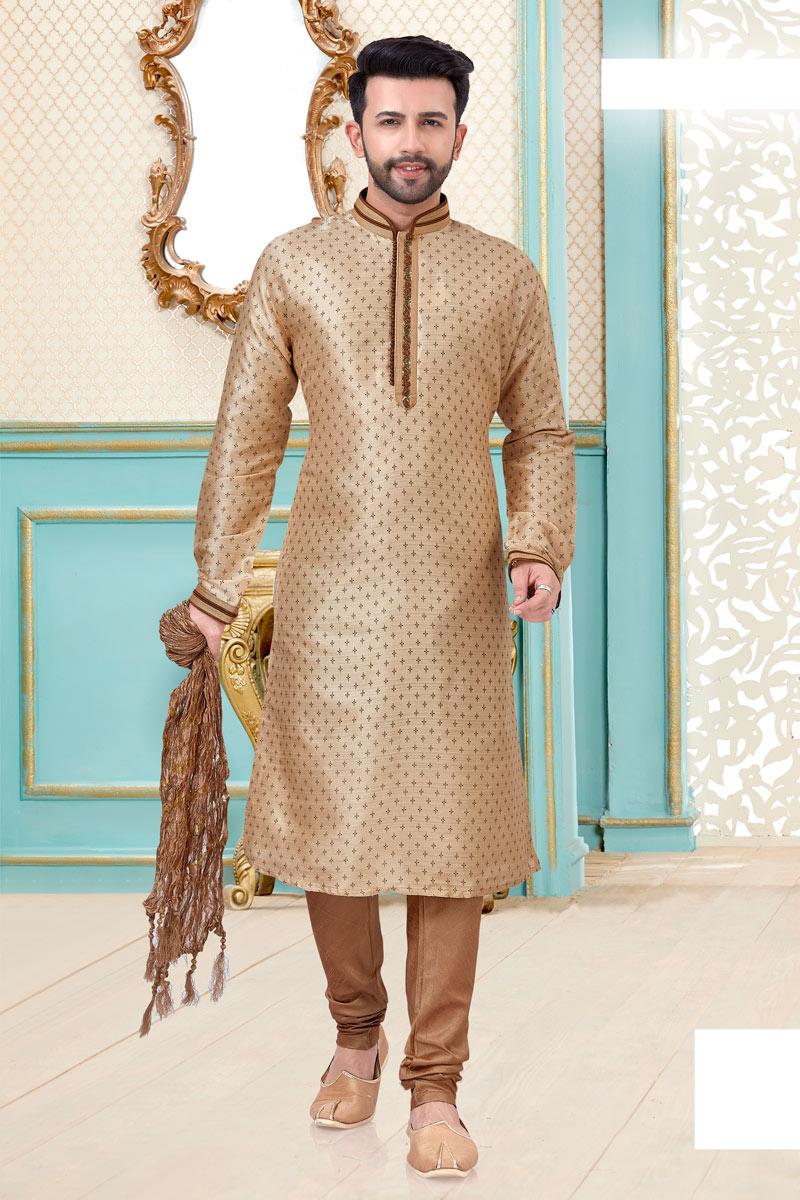 Sangeet Wear Silk Fabric Kurta Pyjama