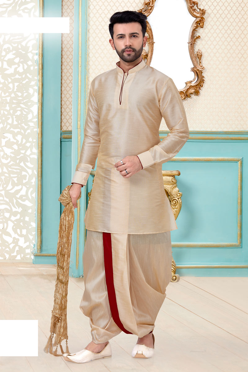 Silk Fabric Function Wear Dhoti Kurta