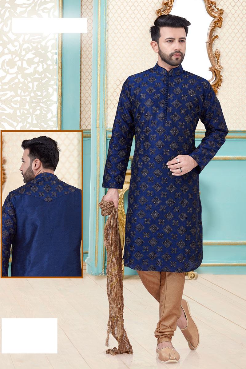 Silk Fabric Function Wear Kurta Pyjama
