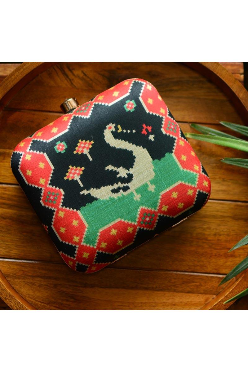 Designer Black Color Box Clutch For Women