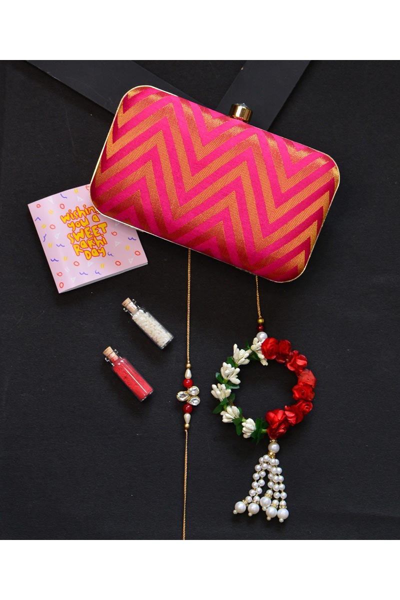 Designer Party Style Rani Clutch Bag For Women
