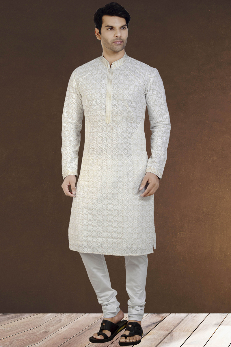 Function Wear Georgette Fabric Kurta Pyjama
