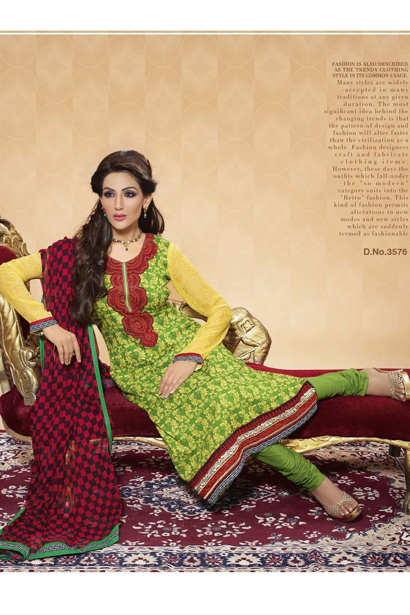 Printed Cotton Punjabi Suit