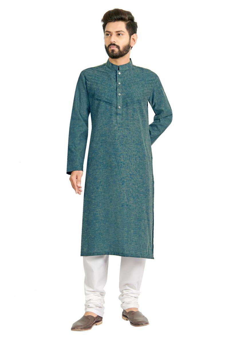 Festive Wear Cotton Fabric Stylish Kurta Pyjama