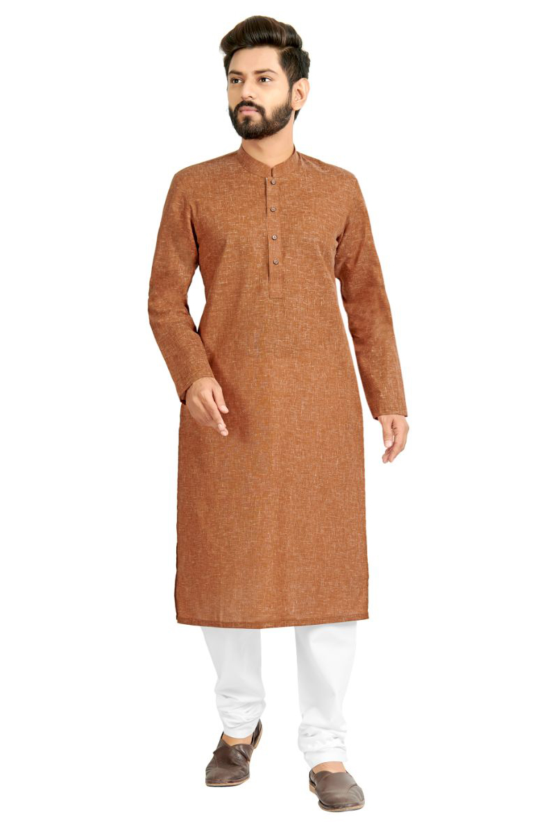 Light Brown Color Designer Kurta Pyjama