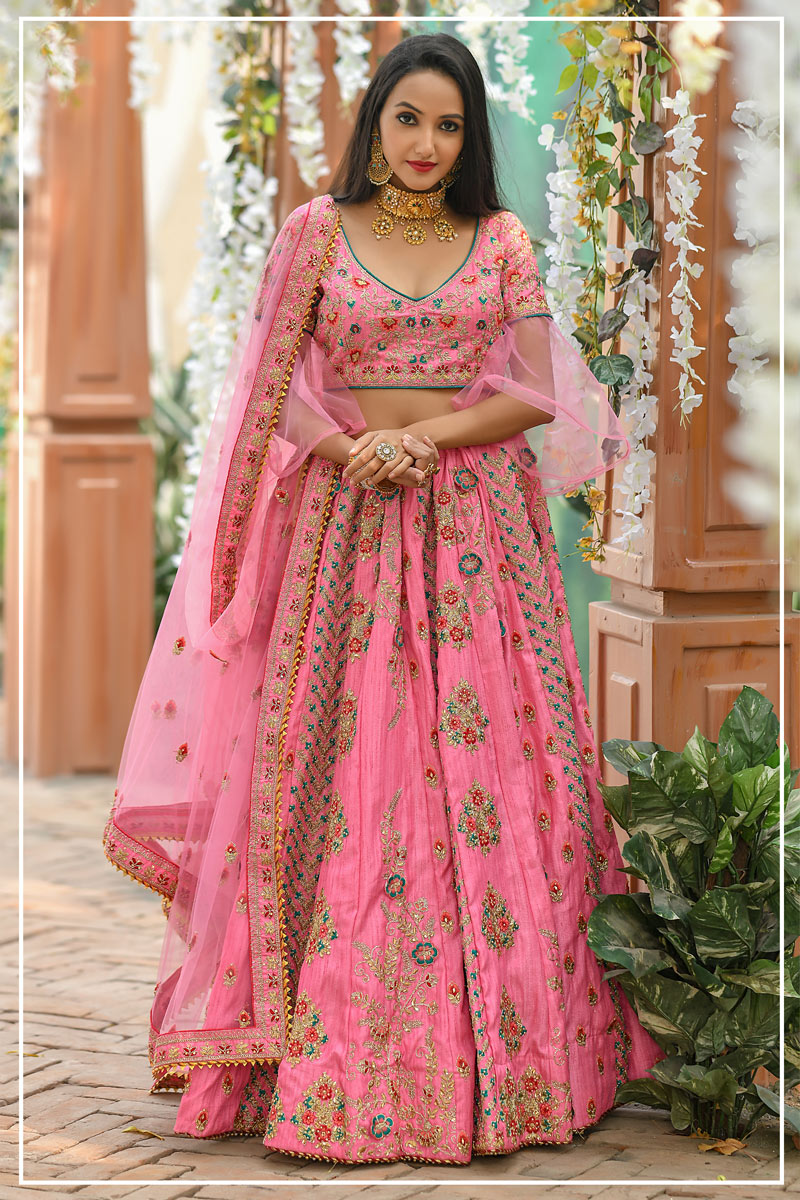 Eid Special Sangeet Wear Embellished Fancy Lehenga Choli