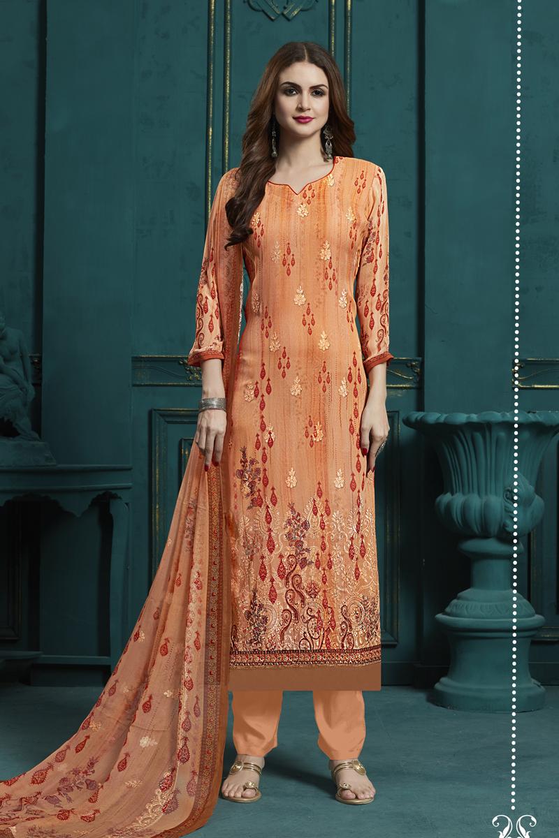 Georgette Fabric Party Wear Salwar Suit