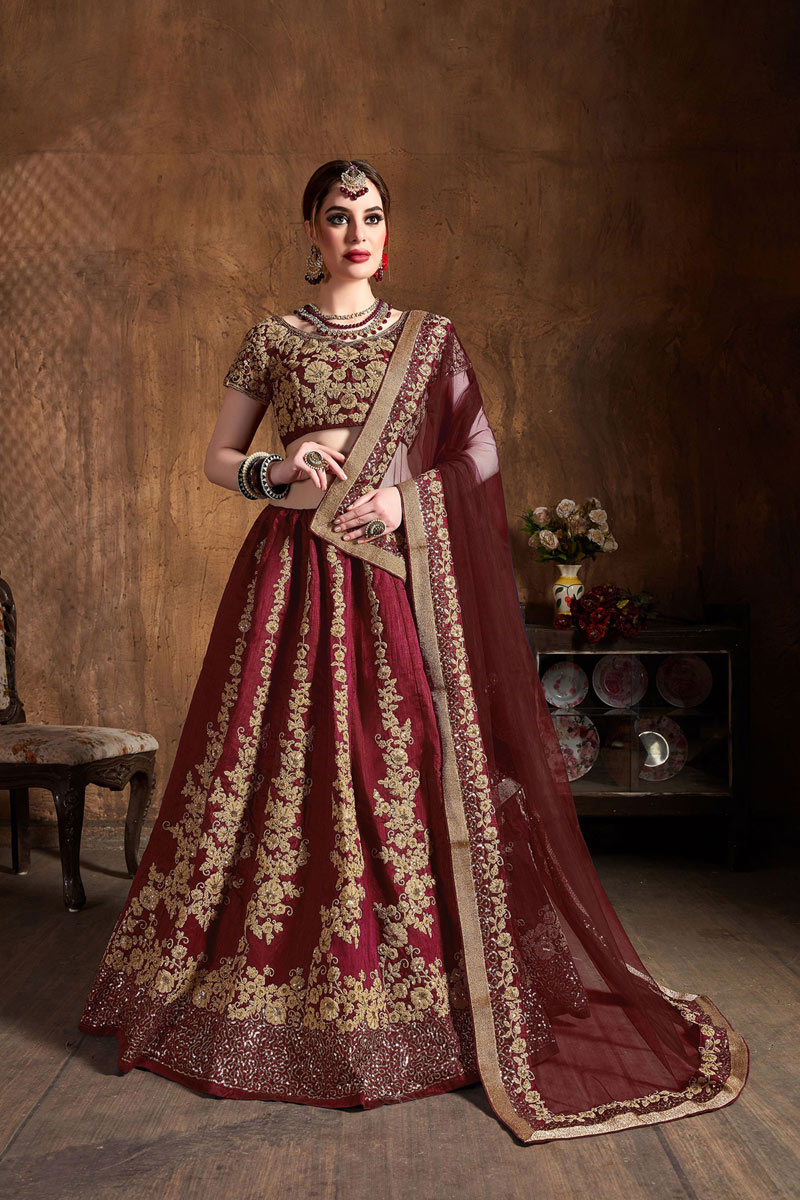 Art Silk Fabric Sangeet Wear Lehenga