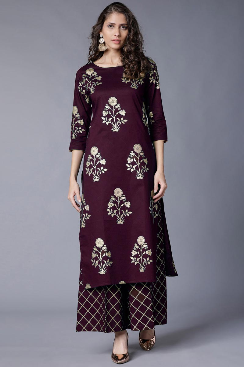 Maroon Party Wear Designer Kurti With Bottom In Rayon
