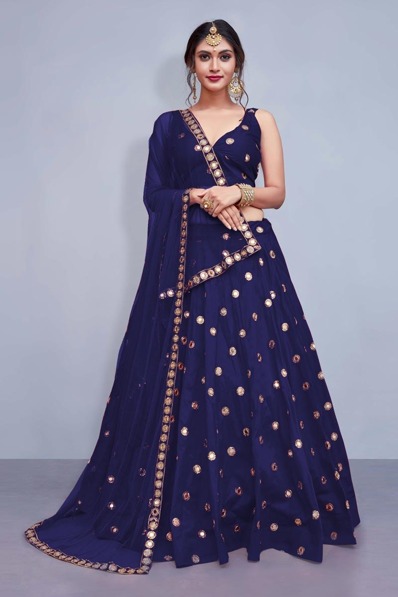 Exclusive Sangeet Ceremony Wear Lehenga Choli In Taffeta Silk