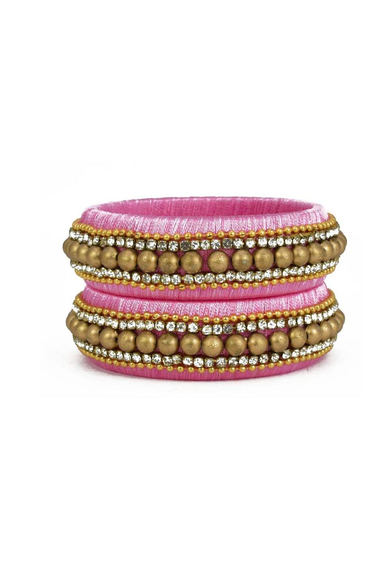 Silk Thread Customized Handmade Fancy Patla In Pink Color