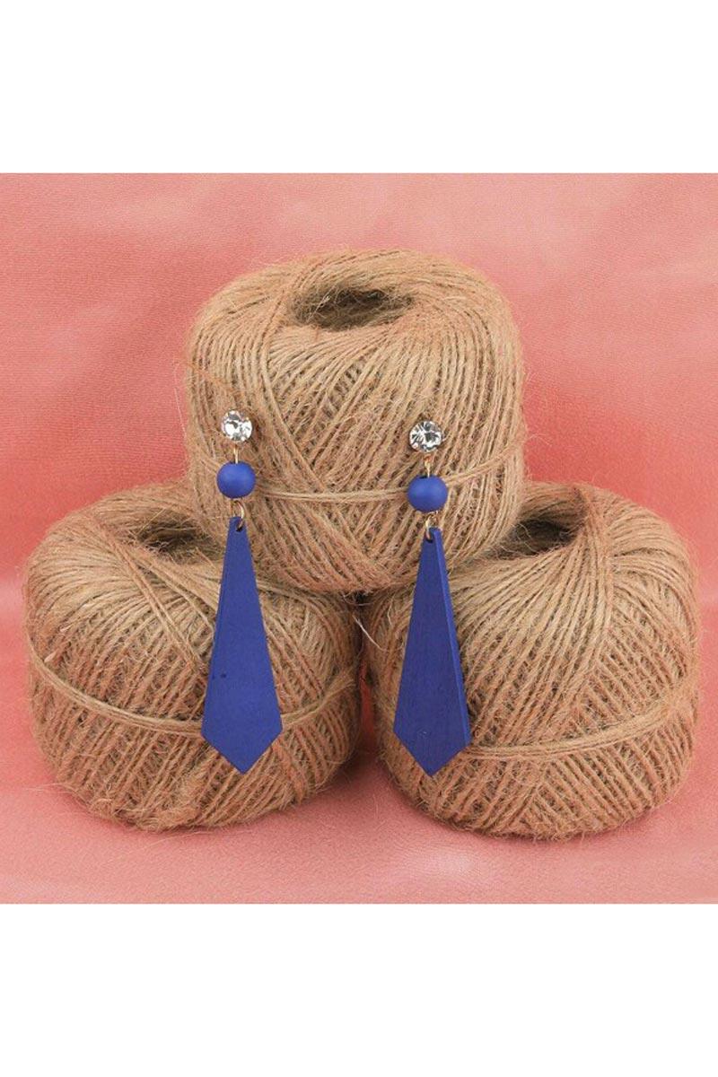 Blue Color Designer Party Wear Earrings