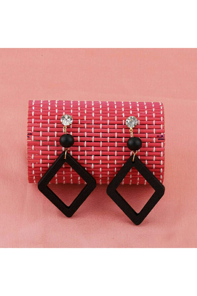 Fancy Black Color Party Style Designer Earrings