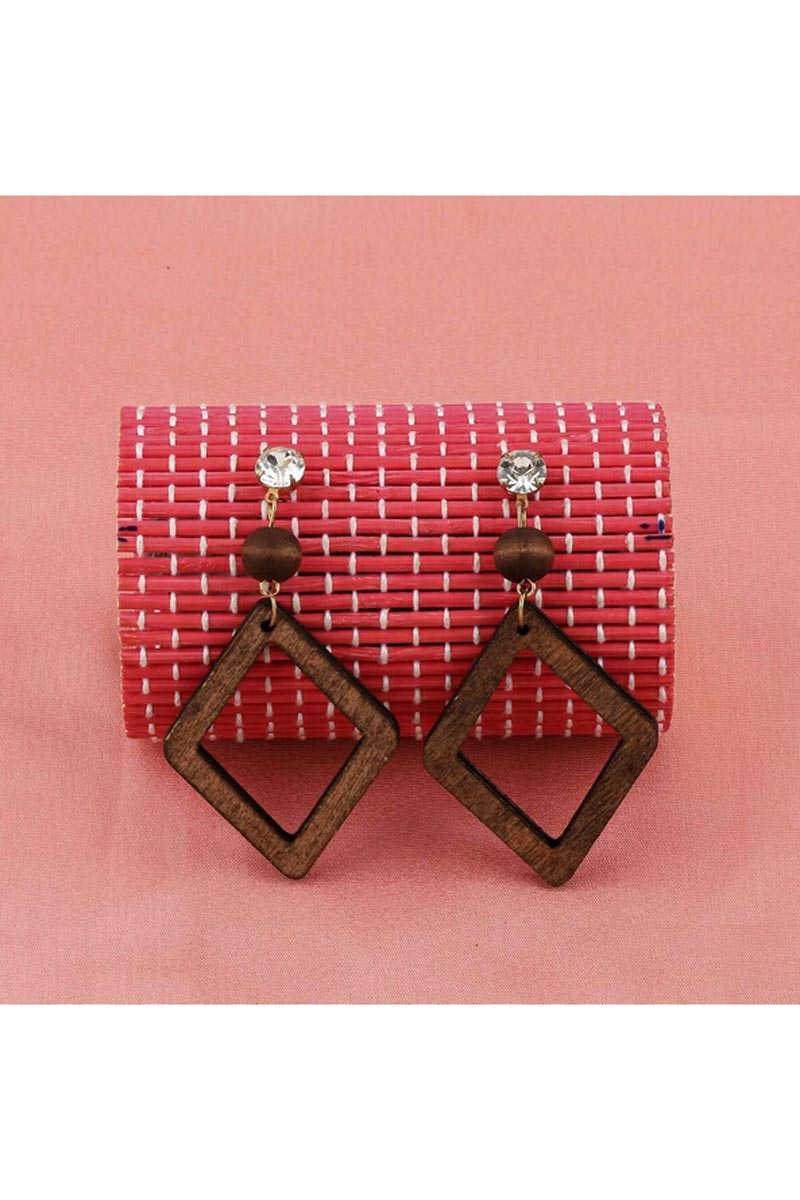 Brown Color Designer Party Wear Earrings