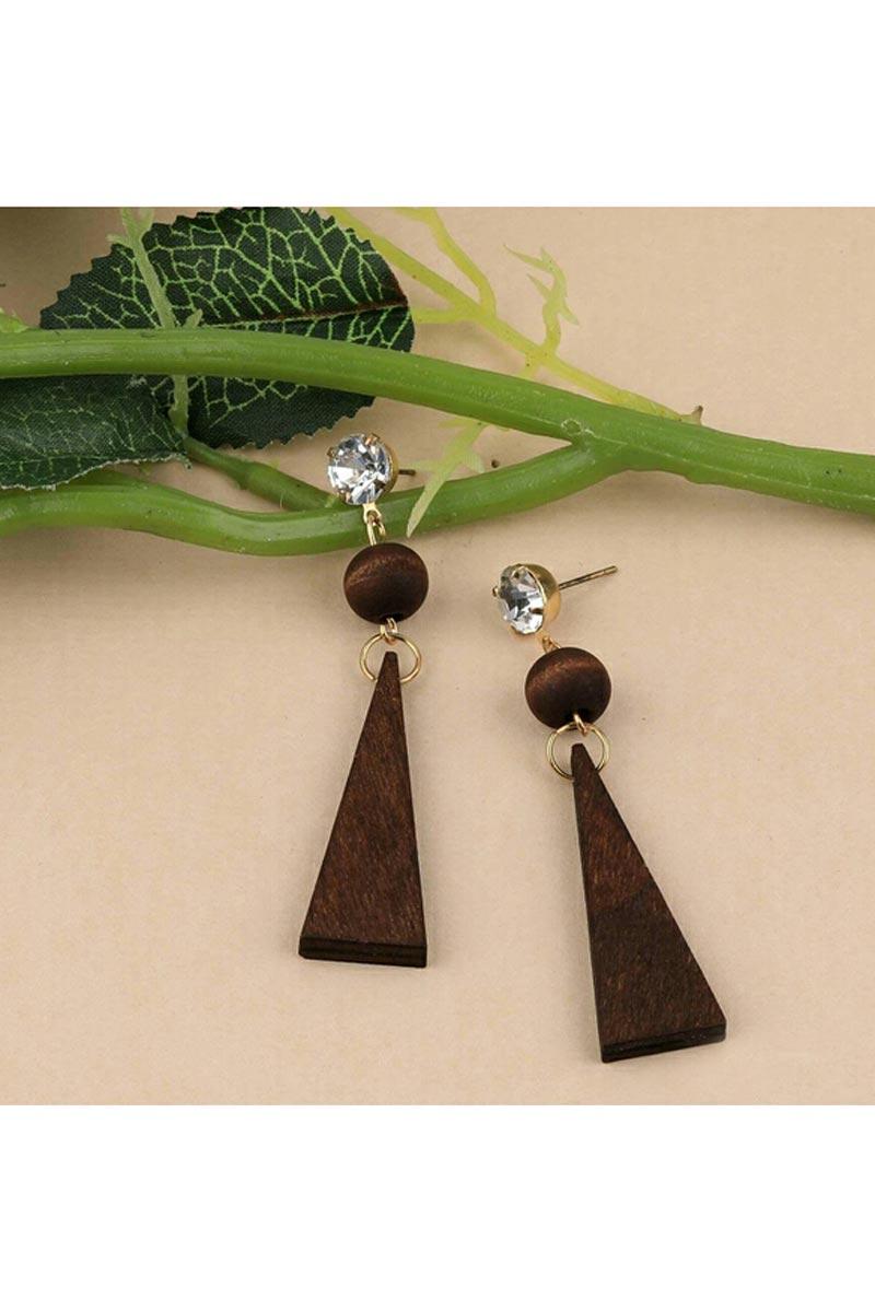 Beautiful Brown Color Designer Party Wear Earrings