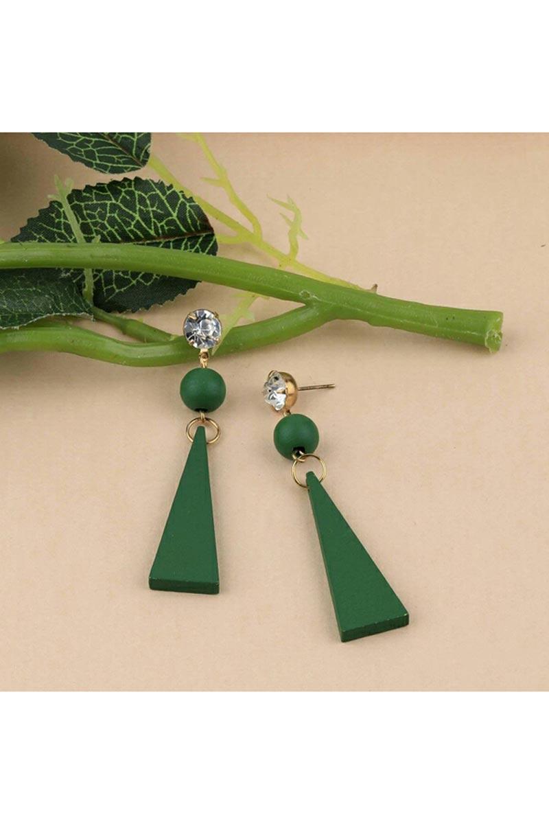 Party Style Green Color Fancy Earrings