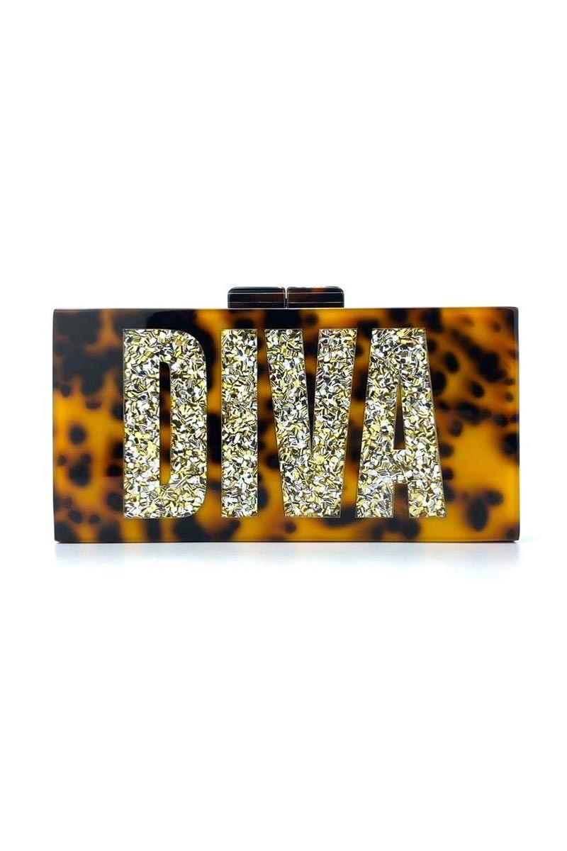 Mustard Color Personalized Acrylic Designer Clutch Bag for Women